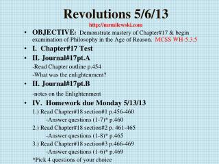 Revolutions  5/6/13 mrmilewski