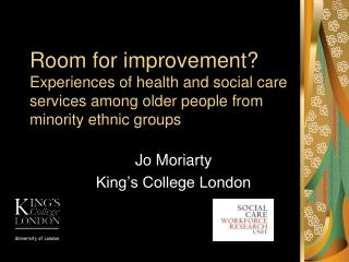 Jo Moriarty King's College London