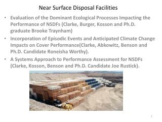 Near  Surface Disposal Facilities