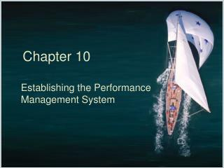 Establishing the Performance Management System