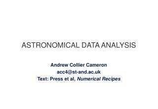 ASTRONOMICAL DATA ANALYSIS