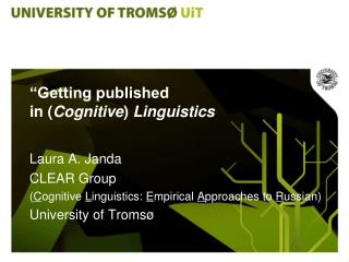 """Getting published  in ( Cognitive )  Linguistics"