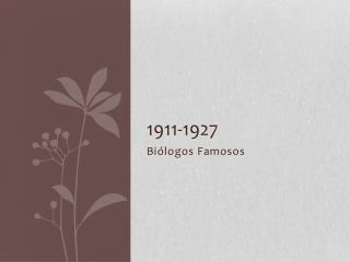 1911-1927