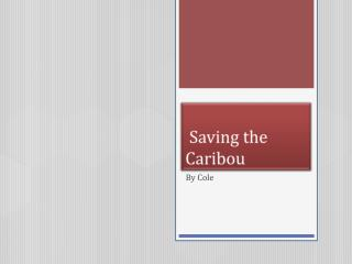 S aving the Caribou