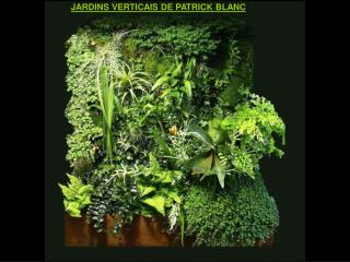 JARDINS VERTICAIS DE PATRICK BLANC