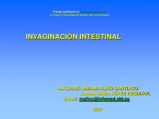 INVAGINACI�N INTESTINAL