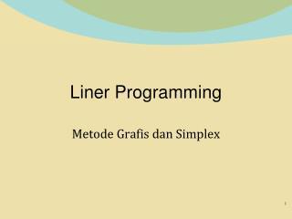 Liner Programming