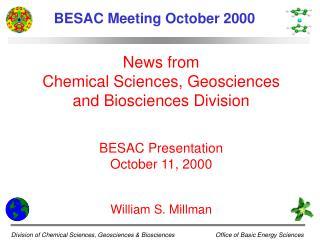 BESAC Meeting October 2000