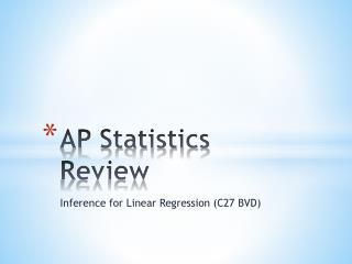 AP Statistics Review