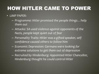 How  hitler  came to power
