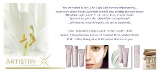 You are invited to join us for a Spa Café morning of pampering…