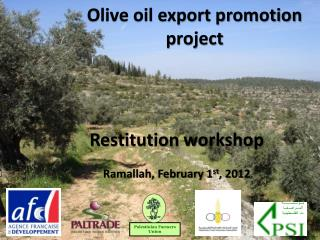 Olive oil export promotion project