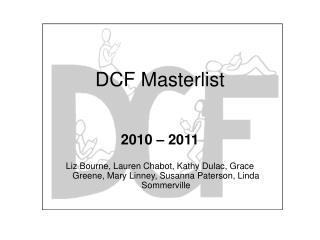 DCF Masterlist