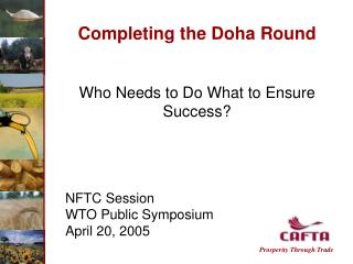 Completing the Doha Round