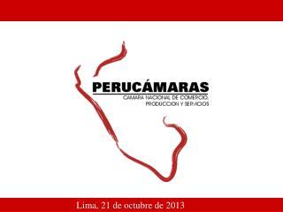 Lima, 21 de octubre de 2013