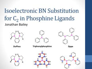 Isoelectronic BN Substitution for C 2  in Phosphine Ligands