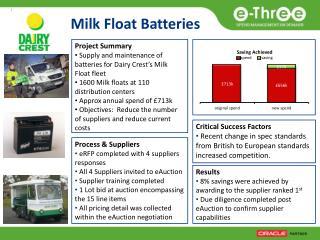 Milk Float Batteries