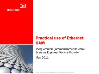 Practical use of Ethernet OAM