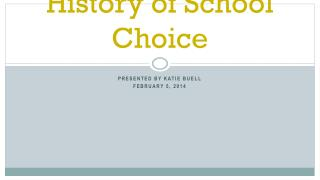History of School Choice