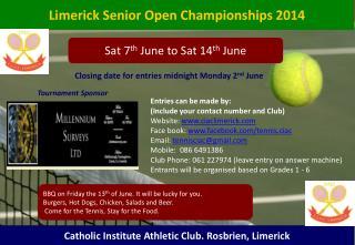 Limerick Senior Open Championships 2014