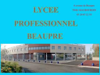 LYCEE PROFESSIONNEL