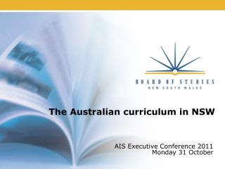 The Australian curriculum in NSW