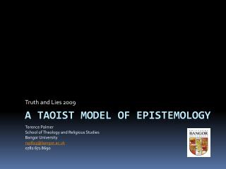 A Taoist model of epistemology