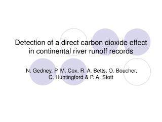 Detection of a direct carbon dioxide effect in continental river runoff records