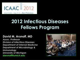 2012 Infectious Diseases Fellows Program
