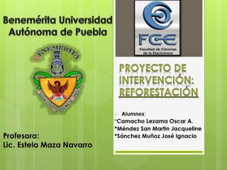 Proyecto de Intervención: Reforestación
