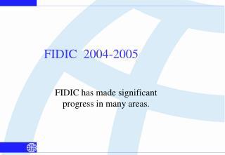 FIDIC  2004-2005