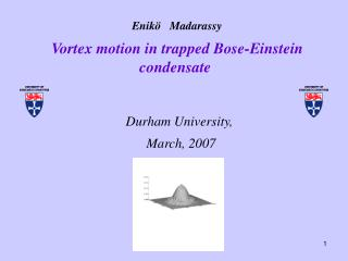 Enik�    Madarassy Vortex motion in trapped Bose-Einstein condensate