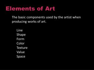 Elements of Art