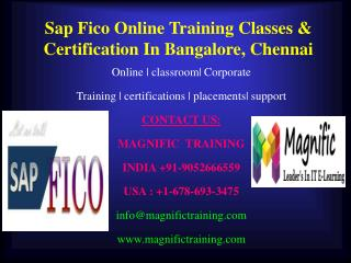 Sap Fico Online Training Classes & Certification In Bangalor