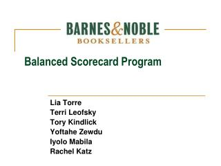 Balanced Scorecard Program
