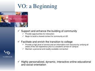 VO: a Beginning