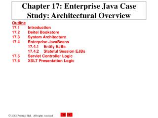 Chapter 17: Enterprise Java Case Study: Architectural Overview