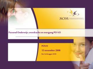 Passend Onderwijs: overdracht en overgang PO-VO