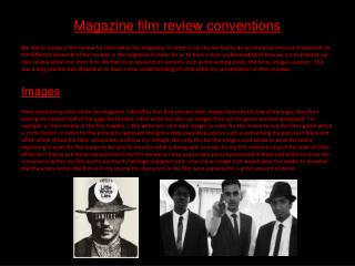 Magazine film review conventions