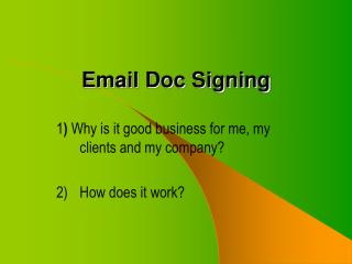 Email Doc Signing