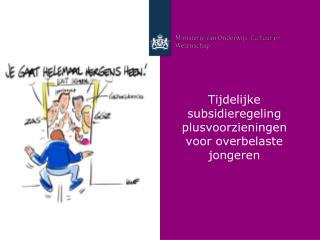 Tijdelijke subsidieregeling plusvoorzieningen voor overbelaste jongeren