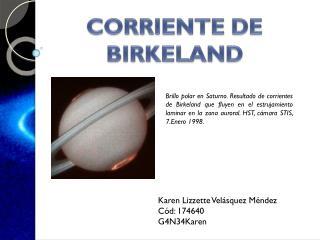 CORRIENTE DE BIRKELAND