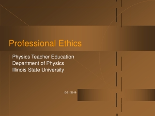 Ethics in Learning and Teaching.