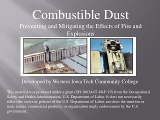 Combustible Dust Preventing and Mitigating the Effects of Fire and Explosions