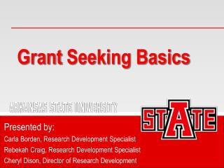 Grant  Seeking Basics
