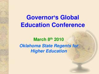 Governor � s Global Education Conference