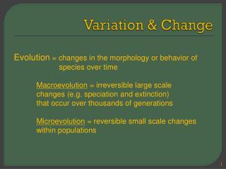 Variation  & Change