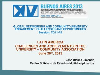 GLOBAL NETWORKING AND COMMUNITY-UNIVERSITY ENGAGEMENT  CHALLENGES AND OPPORTUNITIES