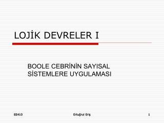 LOJİK DEVRELER I