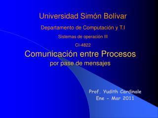 Comunicación entre Procesos por pase de mensajes